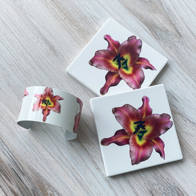 View 1 of Lily Coasters and Lily Cuff Bracelet | Wear the Wonder
