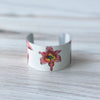 Front view of Pink Lily Cuff Bracelet | Wear the Wonder