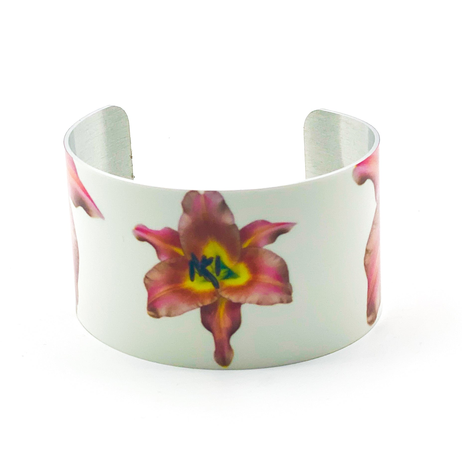 Standard view of Pink Lily Cuff Bracelet | Wear the Wonder
