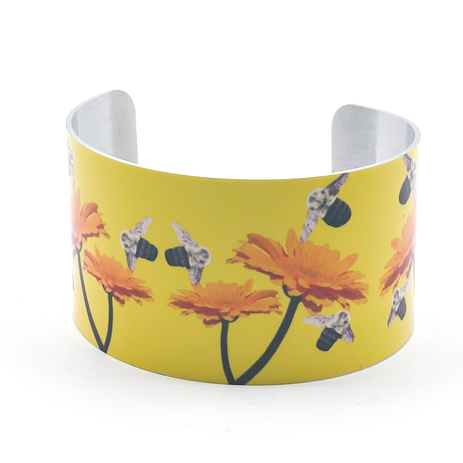 Standard view of Busy Bee Wide Cuff Bracelet | Wear the Wonder