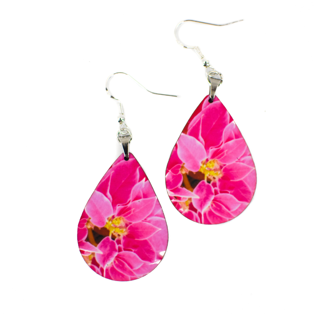 Pink Poinsettia Earrings | Wear the Wonder