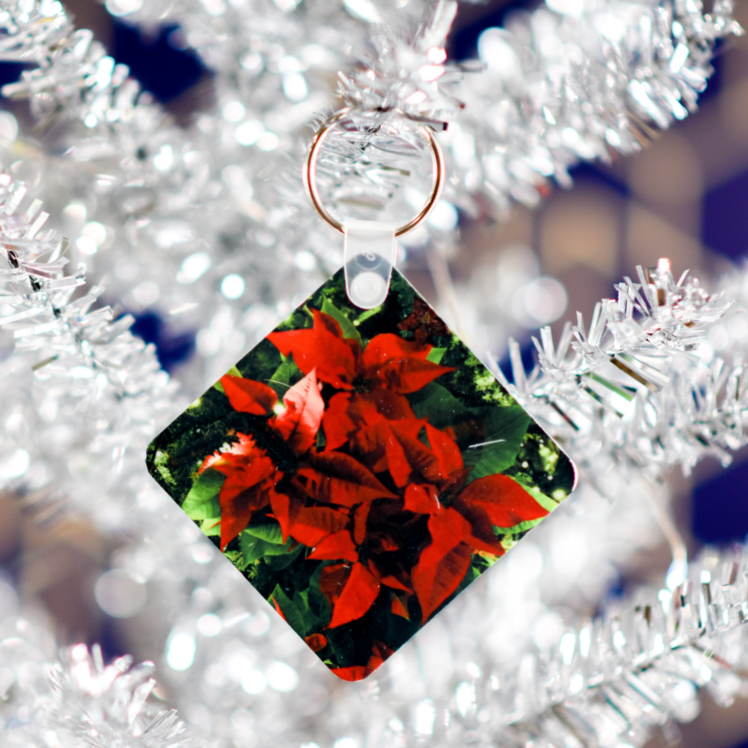 Poinsettia Keychain in Christmas Tree | Wear the Wonder