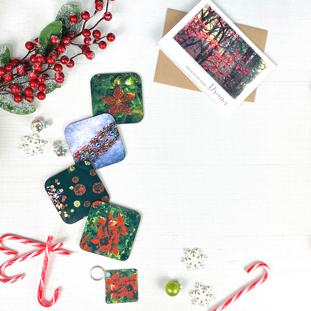 Red Holiday Coasters | Wear the Wonder