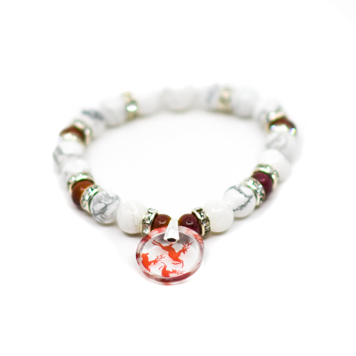 Reindeer Beaded Stretch Bracelet | Wear the Wonder