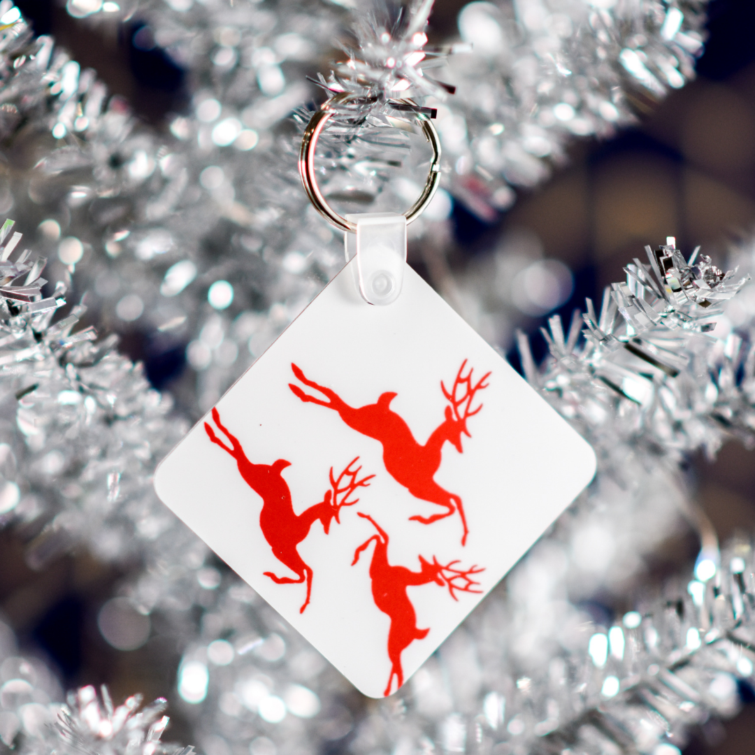 Reindeer Keychain in a Christmas Tree | Wear the Wonder