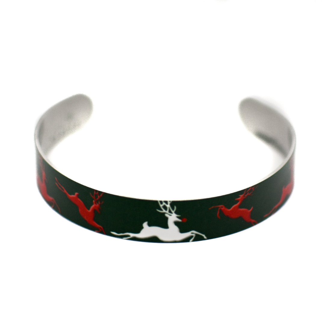 Reindeer Super Narrow Cuff Bracelet | Wear the Wonder