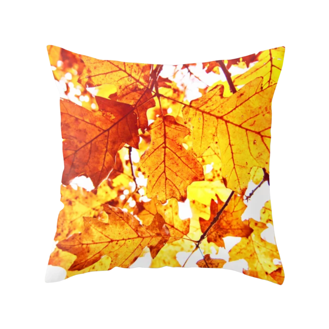 Leaves Aglow Decorative Throw Pillow