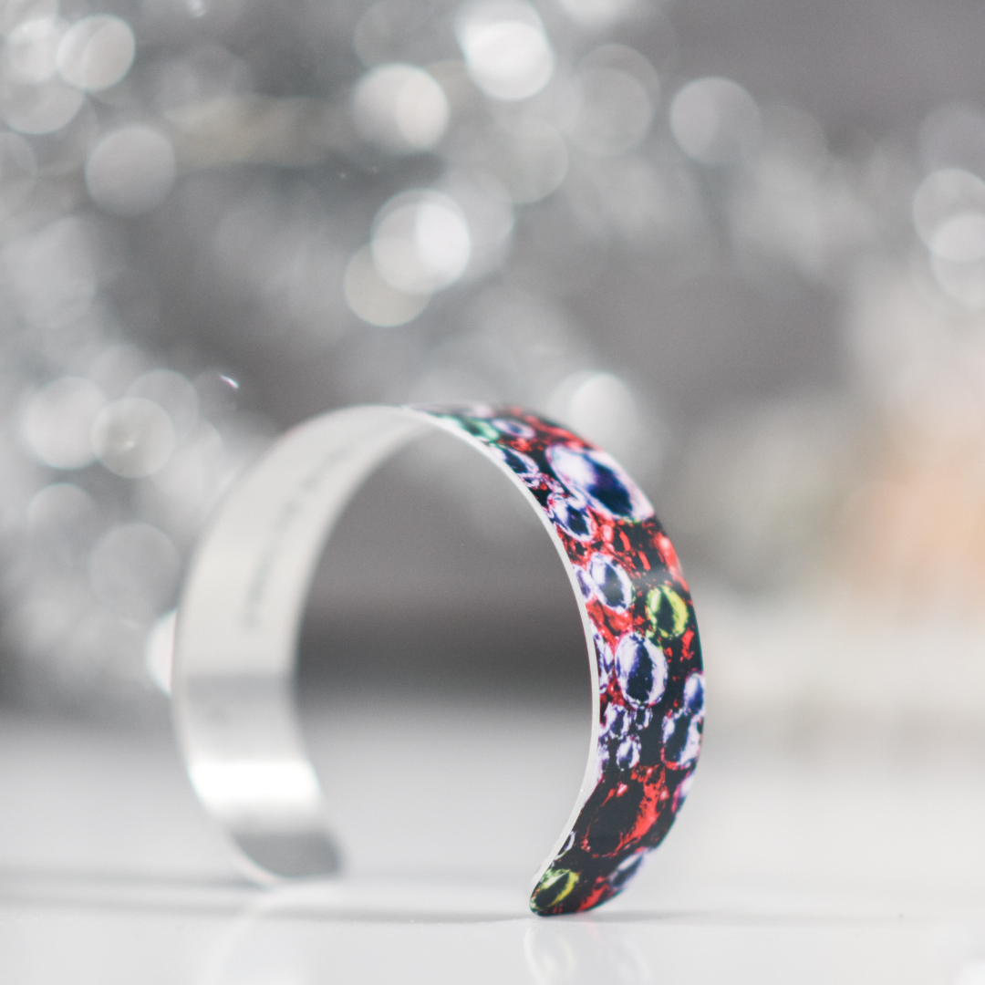 Side view 2 of Holiday Sparkle Narrow Cuff Bracelet | Wear the Wonder