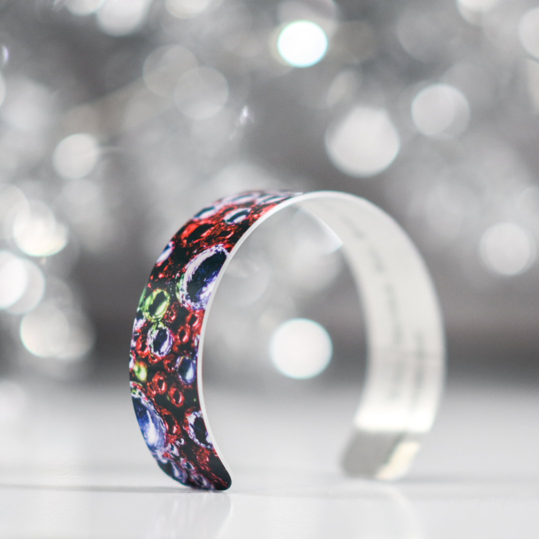Side view 3 of Holiday Sparkle Narrow Cuff Bracelet | Wear the Wonder