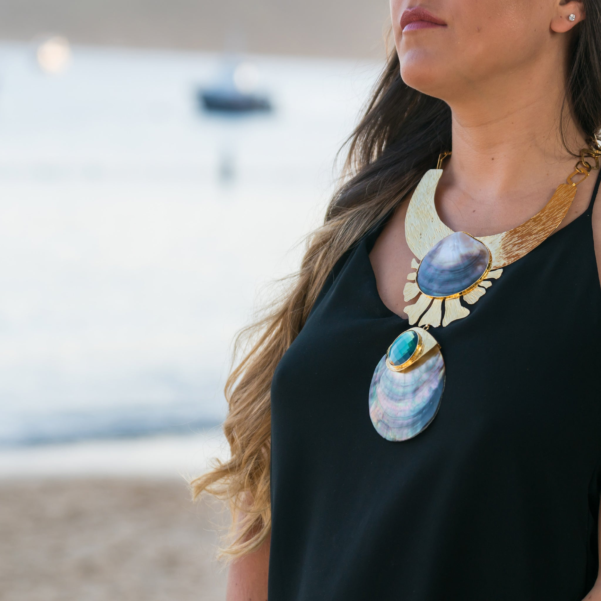 CARIBBEAN BEAT STATEMENT NECKLACE