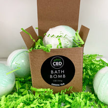 Load image into Gallery viewer, CBD 25MG BATH BOMB GREEN TEA