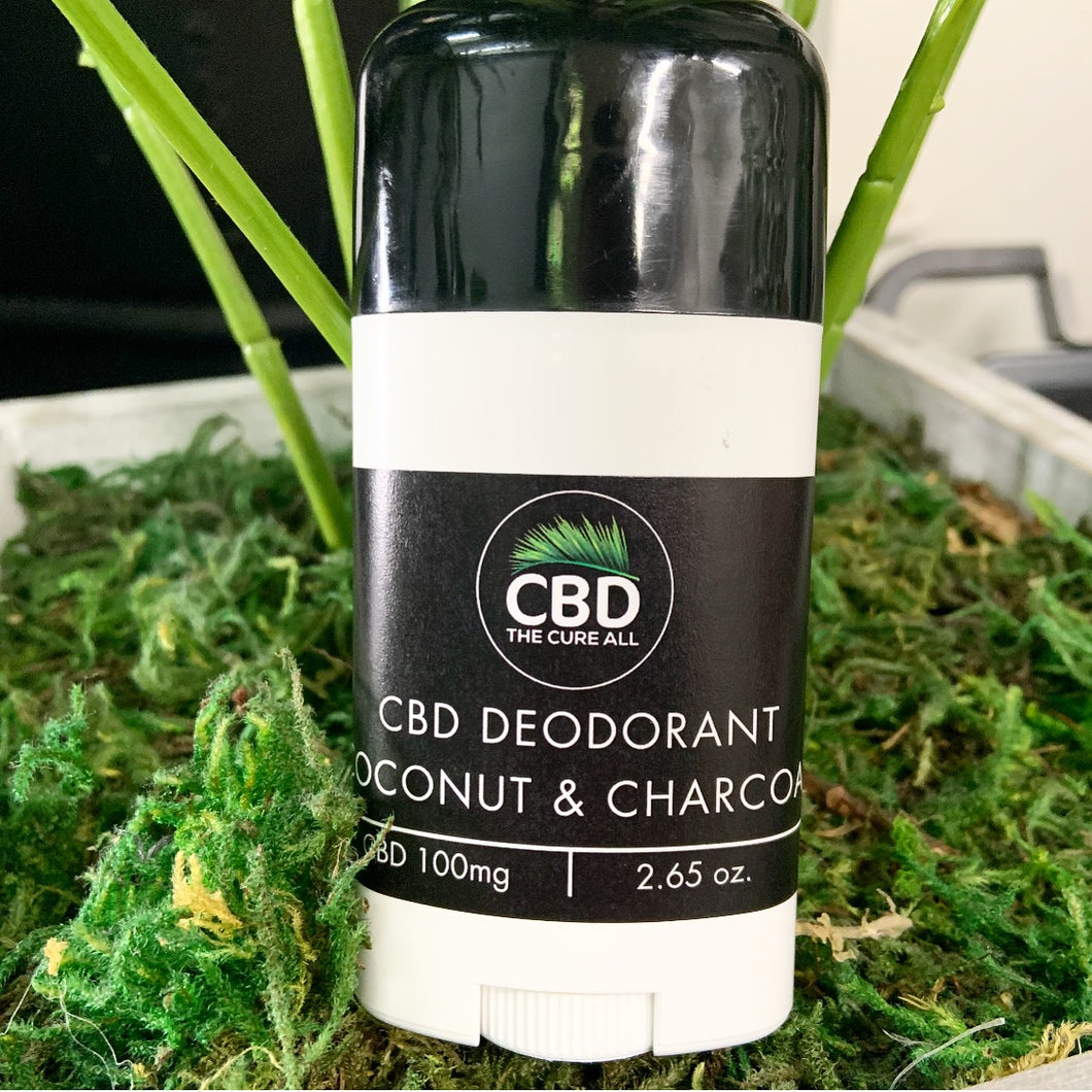 DEODORANT 100mg  Coconut and Charcoal