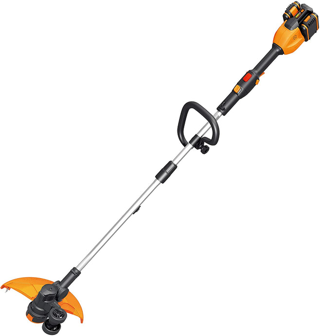 WORX WG184E TRIMMER BATTERIA 20V + 20V da 4,0 Ah al litio