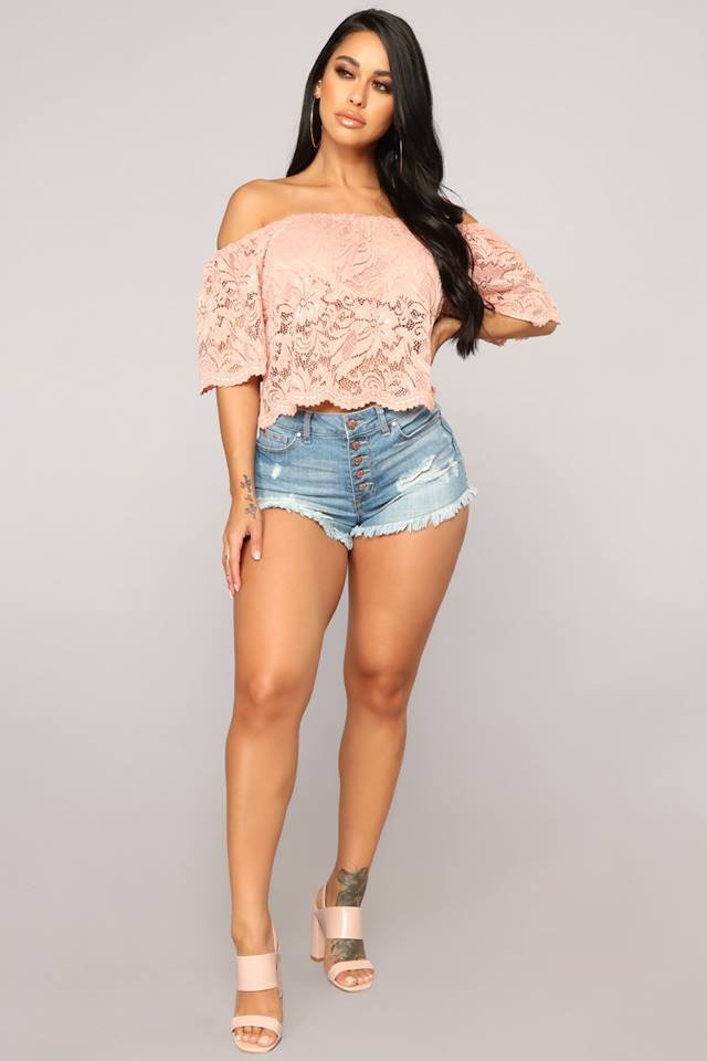 f90a3933012 FashionNova Here For Lace Off Shoulder Top