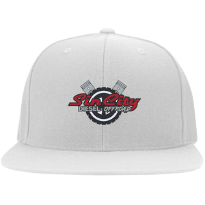 Sin City embroidered 6297F Flat Bill Fulback Twill Flexfit Cap