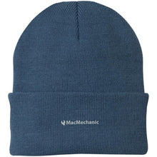 Load image into Gallery viewer, MacMechanic silver embroidered logo CP90 Port Authority Knit Cap
