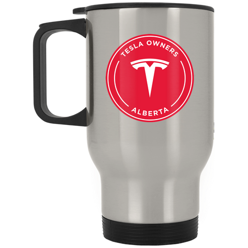 Tesla Owners Club of Alberta XP8400S Silver Stainless Travel Mug