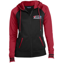 Load image into Gallery viewer, GenRight embroidered logo LST236 Ladies' Moisture Wick Full-Zip Hooded Jacket