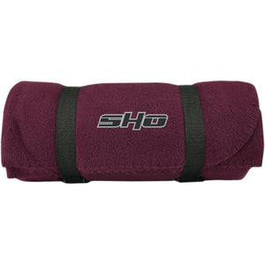 SHO embroidered BP10 Port & Co. Fleece Blanket
