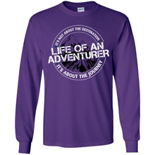 Load image into Gallery viewer, Life of an Adventurer G240B Gildan Youth LS T-Shirt
