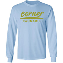 Load image into Gallery viewer, Corner Cannabis G240 Gildan LS Ultra Cotton T-Shirt