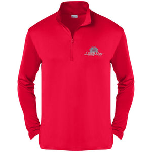 Dusty Dog silver embroidered logo ST357 Sport-Tek Competitor 1/4-Zip Pullover