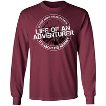 Load image into Gallery viewer, Life of an Adventurer G240 Gildan LS Ultra Cotton T-Shirt