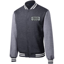 Load image into Gallery viewer, Trucks Unique black & silver embroidered logo ST270 Sport-Tek Fleece Letterman Jacket