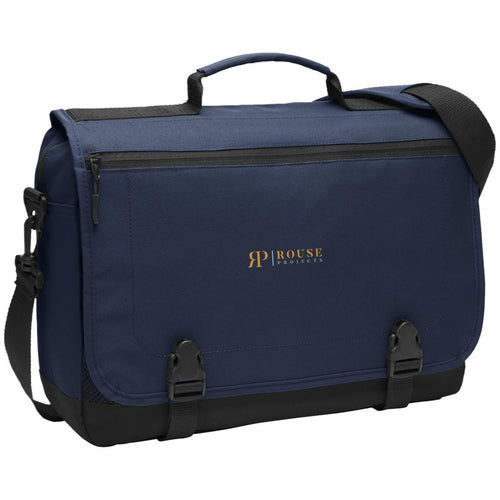 Rouse Projects - Gold & Silver embroidered BG304 Port Authority Messenger Briefcase