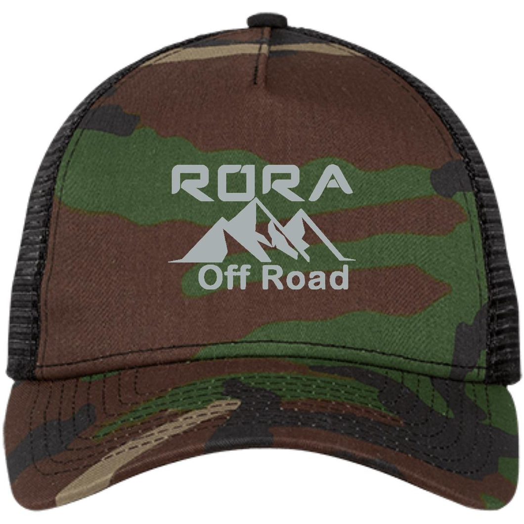 RORA silver embroidered logo NE205 New Era® Snapback Trucker Cap