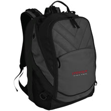 Load image into Gallery viewer, Dark Side Racing red. black & silver embroidered BG100 Port Authority Laptop Computer Backpack