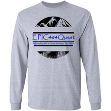 Load image into Gallery viewer, Circle EPIC Mountain Black and Blue G240 LS Ultra Cotton T-Shirt