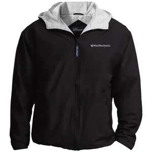 MacMechanic silver embroidered logo JP56 Port Authority Team Jacket