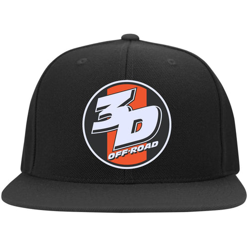 3D Offroad embroidered 6297F Flat Bill Fulback Twill Flexfit Cap