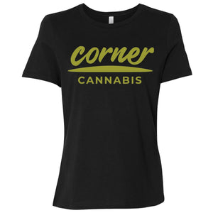 Corner Cannabis B6400 Ladies' Relaxed Jersey Short-Sleeve T-Shirt