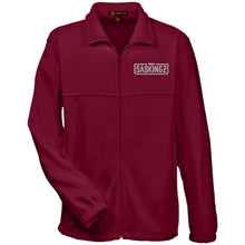 Load image into Gallery viewer, SASKINGZ silver embroidered logo M990 Harriton Fleece Full-Zip