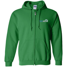 Load image into Gallery viewer, AVD embroidered logo G186 Gildan Zip Up Hooded Sweatshirt