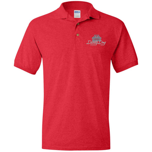 Dusty Dog silver embroidered logo G880 Gildan Jersey Polo Shirt