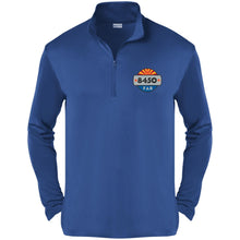 Load image into Gallery viewer, 8450 embroidered logo ST357 Sport-Tek Competitor 1/4-Zip Pullover