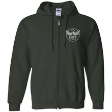 Load image into Gallery viewer, Lyft Off Road silver embroidered G186 Gildan Zip Up Hooded Sweatshirt