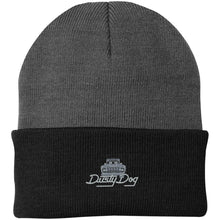 Load image into Gallery viewer, Dusty Dog silver embroidered logo CP90 Port Authority Knit Cap