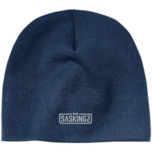 Load image into Gallery viewer, SASKINGZ silver embroidered logo CP91 100% Acrylic Beanie