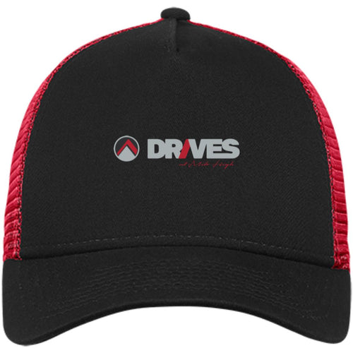 Drives at Mile High embroidered logo NE205 New Era® Snapback Trucker Cap