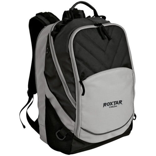 Roxtar Trux black and silver embroidered logo BG100 Port Authority Laptop Computer Backpack