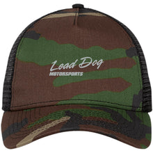 Load image into Gallery viewer, LEAD DOG silver embroidered NE205 New Era® Snapback Trucker Cap