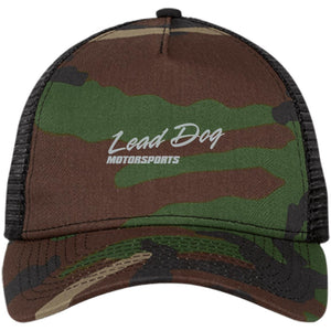 LEAD DOG silver embroidered NE205 New Era® Snapback Trucker Cap