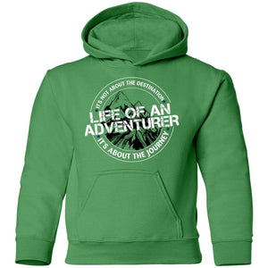 Life of an Adventurer G185B Gildan Youth Pullover Hoodie