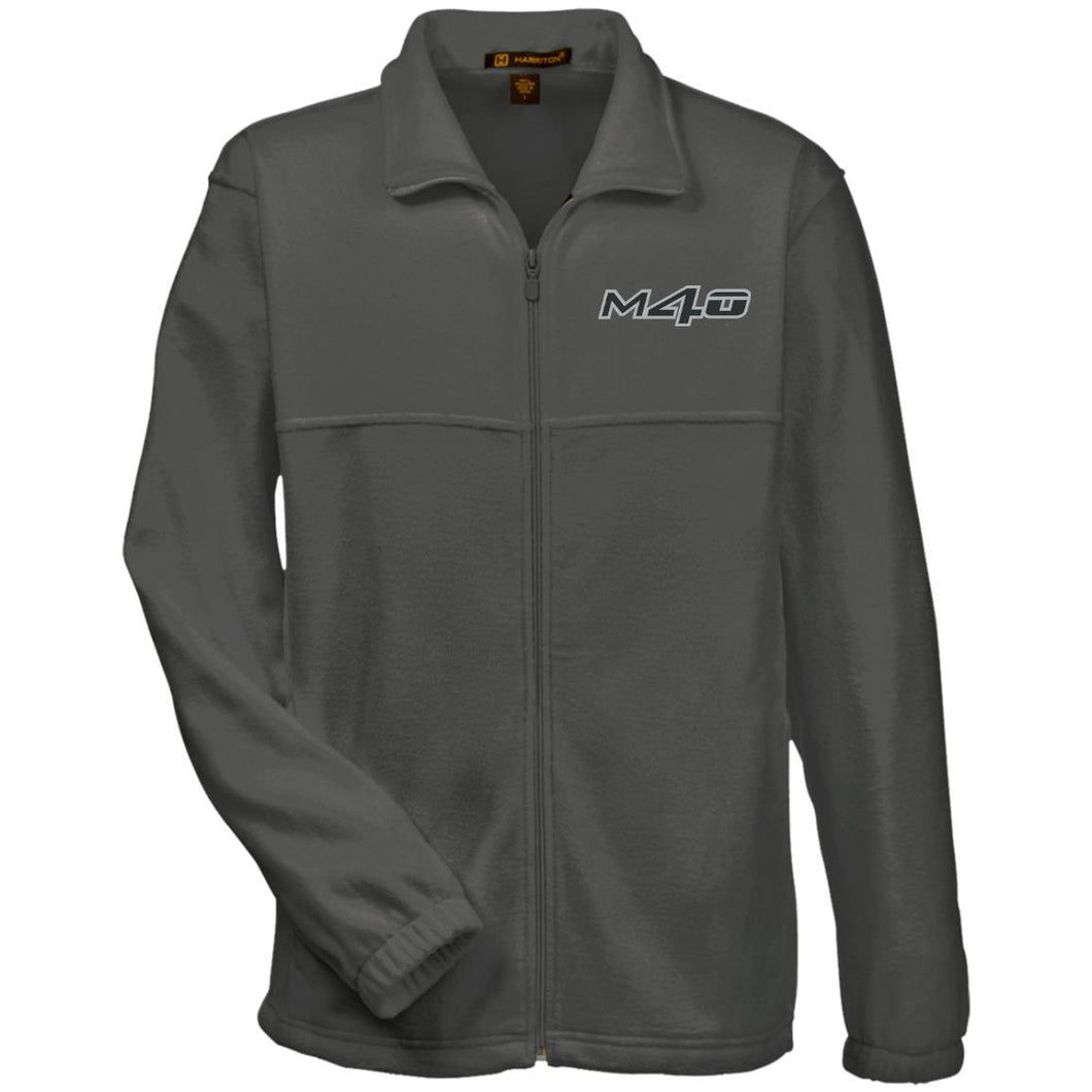 M4O embroidered logo M990 Harriton Fleece Full-Zip