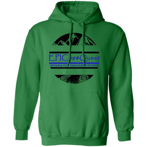 Circle EPIC Mountain Black and Blue G185 Pullover Hoodie 8 oz.