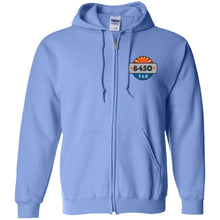Load image into Gallery viewer, 8450 embroidered logo G186 Gildan Zip Up Hooded Sweatshirt